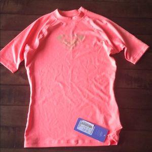 Roxy Whole Hearted Coral Swim shirt/rash guard M